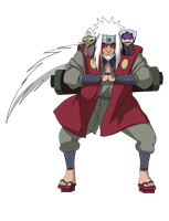 Jiraiya Sage mode render by vdb1000
