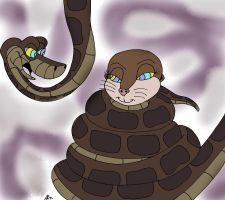 Kaa and Marlene Painted by lol20