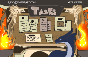 Xedralkana: Task Board Sign Picture by Asoq