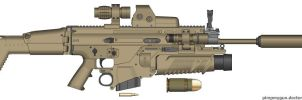 SCAR-H 'Heart of Texas' by Toboe-and-angel