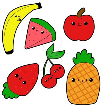 Chibi Fruits by sambeawesome