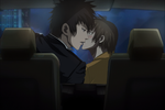 Psycho-pass:Kogami x Akane - kiss in car by Lesya7