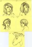 Post-It Doodles Page4 by leighanief