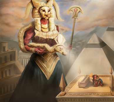 Blessing of Sekhmet by totopc