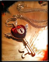 Key to My Heart Necklace by Horribell-Originals