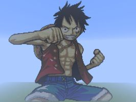 Big Luffy in Minecraft by serge96