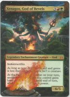 MTG Card Altered Xenagos, God of Revels by ZeyoZx