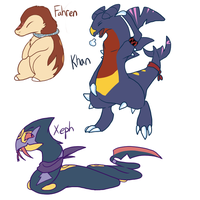 Pokemon Chars by Chico-2013
