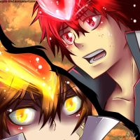 KHR:Tsuna and Enma by julcha97