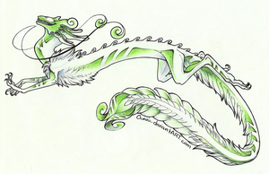 Sassy green dragon by Ouari