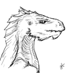 Dragon sketch January by Nox-Dracoria