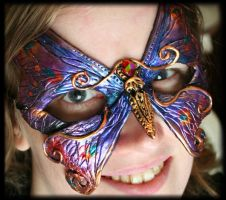 Purple and Gold Butterfly Mask by Namingway