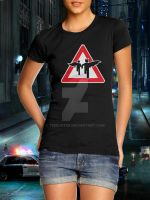 Superhero Crossing - Shirt - Girl - Teebusters.com by teebuster