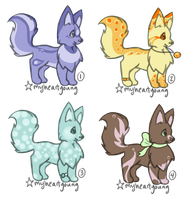 Fluffy Fox Adoptables by myheartyoung