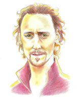 Tom Hiddleston Colored Portrait by Lord-Stardust