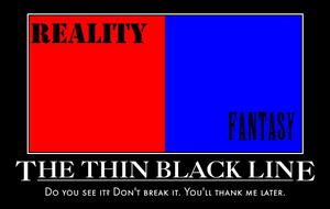 De-Mo poster Thin Black Line by RubyMewtwo