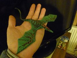 Lesser copper spotted whip-tail - craft foam model by Cavyman