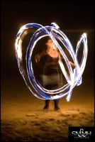 Fire Spinning II by MarkHumphreys