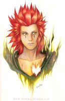 Axel Kingdom Hearts by RerinKin