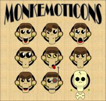 Monkemoticons Sticker Set by HyroGlyphIQ