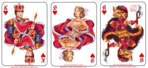 Playing card deck: hearts by sparrow-chan