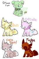 Foody Adoptables by spottedtail223