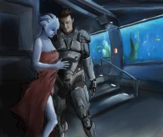 Please be careful out there, Shepard by xWolfie212x