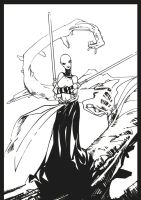 Asajj Ventress ink by BGorilla