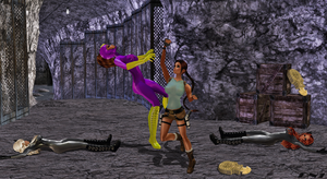 Purple Vixen-Shik Girls Vs. Lara Croft : Pt.1 by LaraLuvsMe