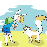 Fionna and Cake by PonyGoggles