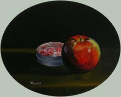 Apple with Bon-bons by hank1