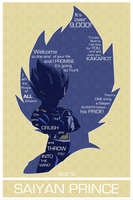 Vegeta Poster [24 x 36] by unc1233