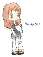 Hermione Chibi by pitatenlover