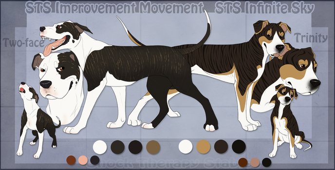 STS Dogs - Two-face and Trinity by ShockTherapyStables