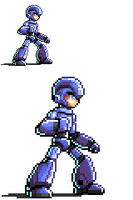 Pixelated Blue Bomber MkII by FontesMakua