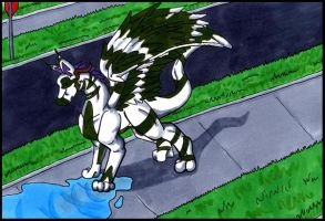 The Dragon in the Puddle by Neio6
