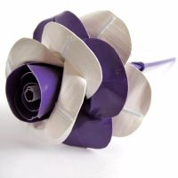 Purple-White Duct Tape Rose by DuckTape-Rose