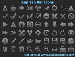App Tab Bar Icons by Ikont