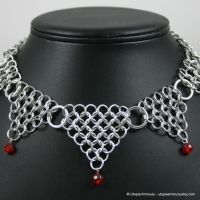 Red Dagger's Point Necklace by Utopia-Armoury