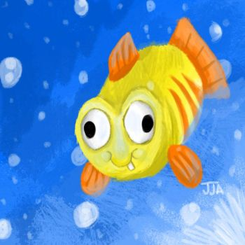 Derpfish with bubbles by jared811111
