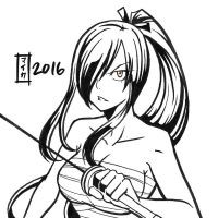 commission. Earthquake Relief 10 - Erza by maioceaneyes