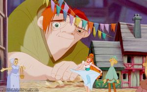 Thumbelina/Quasimodo by angeelous-dc