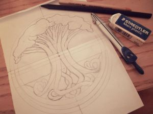 Tree of Life WIP by Ninelyn