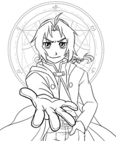 WIP - Edward Elric Print by SonicRocksMySocks