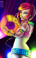 I know this pretty rave girl.. by panda101324