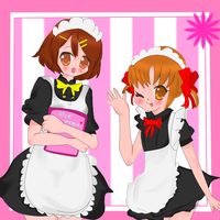 Moe maids by yayotaXD