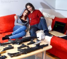 Winter Soldier / Black Widow Cosplay safe house 1 by Mon-Kishu