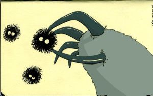Picking Susuwatari by thefuzzyslug
