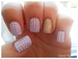 Sweater Nails by Ebony-Rose13