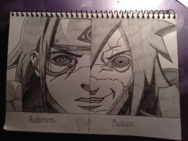 Hashirama and Madara by Tora-Luv10